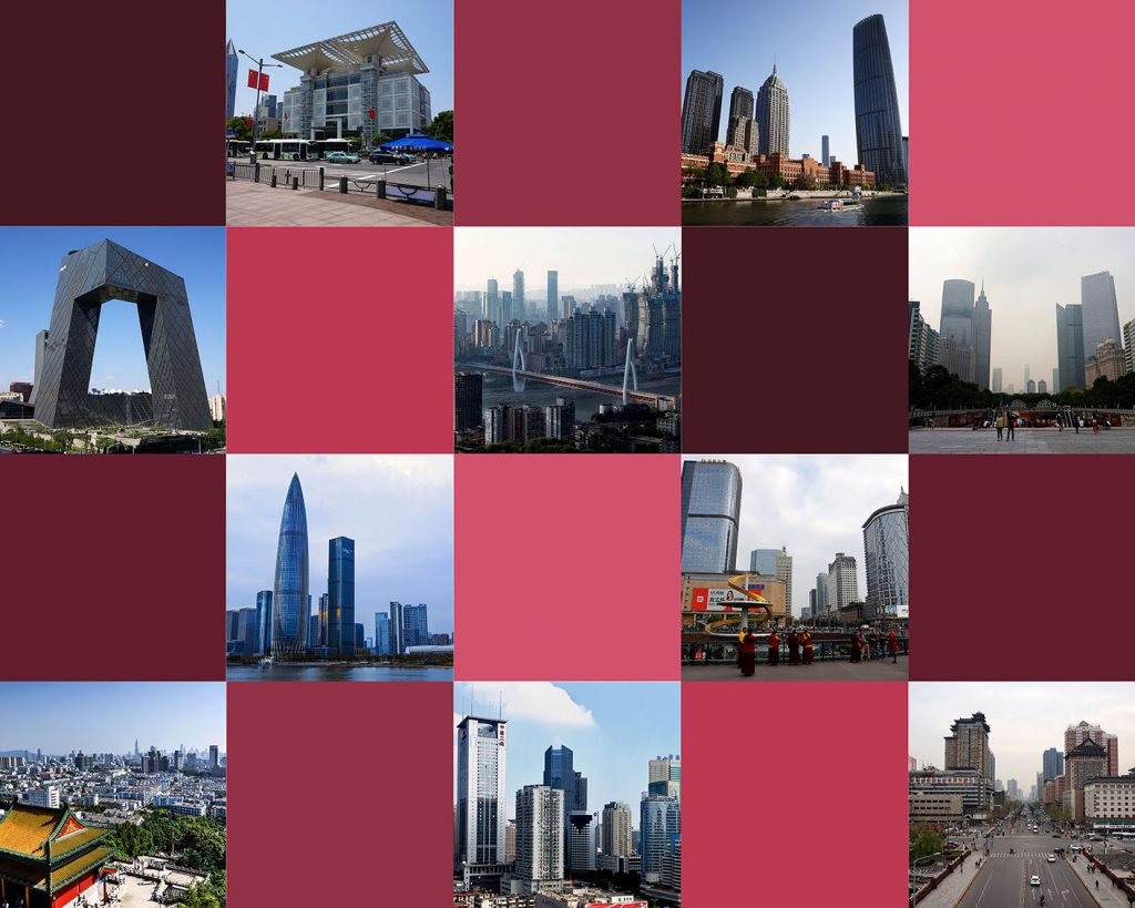 Collage Chinese Cities