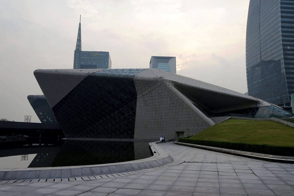 Guangzhou opera - contemporary architecture