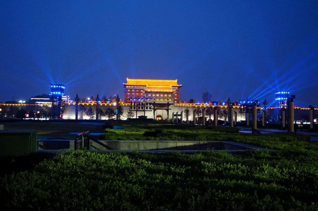 Xi'an wall at night